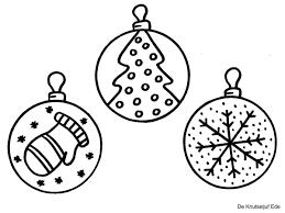 Kleurplaten Kerstballen Kerst Kleurplaat Kleurplaten
