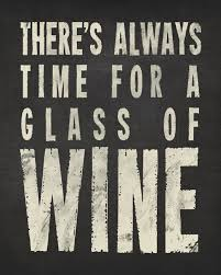 There S Always Time For A Glass Of Wine Charcoal Removable Wall Decal Keep Calm Collection
