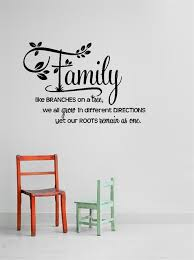 Decal Family Like Branches We All Grow In Different Directions 15x30 Contemporary Wall Decals By Design With Vinyl