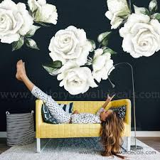 Flower Wall Decal Watercolour Spring Flowers Corner Wall Decal Wall Decals Removable Wallpaper Wall Murals Just For You Decals