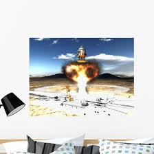 Orion Drive Spacecraft Using Atomic Wall Decal Wallmonkeys Com