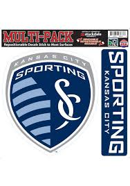 Sporting Kansas City 12x12 2 Pack Crest Auto Decal Navy Blue 8032455
