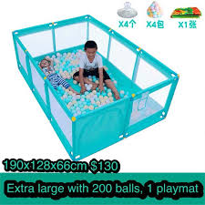 Extra Large Baby Playpen Playmat Fence Babies Kids Toys Walkers On Carousell