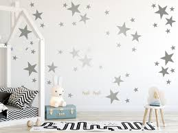 48 Mixed Size Silver Stars Wall Stickers Decals Ramutes On Artfire