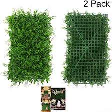 A Artificial Greenery Panels Nhsunray Boxwood Hedges Panels Mixed Foliage Greenery Walls Decoration Privacy Screen Ivy