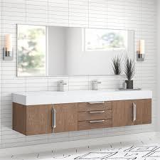 wall mounted double bathroom vanity set
