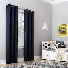 Riley Kids Bedroom Blackout Grommet Curtain Panel 40 X 63 Navy Walmart Com Walmart Com