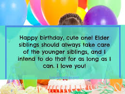 sweet happy birthday little brother wishes and quotes