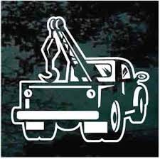 Vintage Tow Truck Decals Car Window Stickers Decal Junky