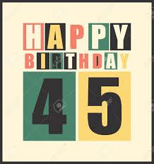 Tarjeta De Cumpleanos Feliz Retro Feliz Cumpleanos 45 Anos