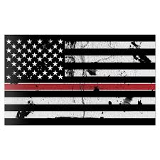 American Flag Distressed Thin Red Line Wall Graphic Large Removable 1 Foot Wide 12 Inch Premium Vinyl Peel And Stick Decal Sticker Walmart Com Walmart Com