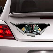 Vinyl Decal Boba Fett Car Window Bumper Laptop And Bumper Custom Decoration This Sticker Is Avaible In Three Sizes Small 11x4 Inch Mediu Autos Dibujos
