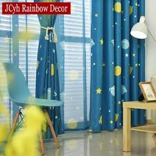 Blue Planet Star Cartoon Window Blackout Curtains For Children Baby Boy Kids Bedroom Curtains Living Room Home Decor Cortina Buy At The Price Of 6 59 In Aliexpress Com Imall Com