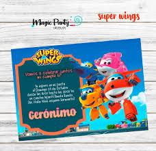 Tarjeta Invitacion Digital Cumpleanos Super Wings 150 00 En