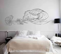 Amazon Com Big Wave Wall Decals Sea Wave Wall Sticker Beach Decor Sea Art Sea Decals For Kids Rooms Wall Graphics For Bedrooms Ik3416 Handmade