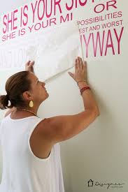 Make Your Own Decals To Create A Custom Wall Quote Designertrapped Com