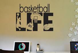 Basketball Life Hobby Wall Decals Boys Girl Kids Room Personal Etsy