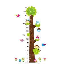 Cartoon Animals Height Measure Wall Stickers For Kids Room Monkey Dinosaur Giraffe Vinyl Growth Chart Removable Ruler Decal Wall Stickers Aliexpress