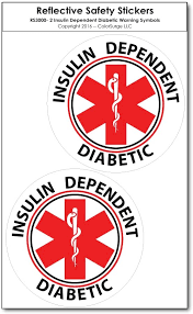 2 Vehicle Pack Rated For 7 Years Outdoors Diabetic Emergency Accessories Bricals Vinyl Decals Diabetes Medical Alert Ultra Reflective Car Truck Window Decal Sticker Decals