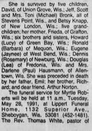 Obituary for Myrtle Roberts - Newspapers.com