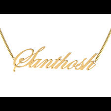 customized gold name pendant gold