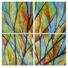 "ALL MY WALLS Peggy Davis 'Branches' Metal Wall Art 25"" x 25"" x 1 ..."
