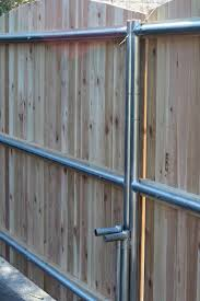 Pine Tree Home Wood Fence Gate With Galvanized Frame Wood Fence Gates Wood Fence Wood Gate
