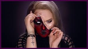 demon pulled up skin makeup