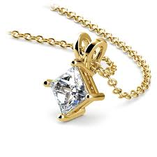 solitaire pendant setting in yellow gold