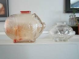 vintage glass piggy bank large 7 50