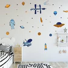 Diy Outer Space Wall Sticker Vinyl Rocket Spaceship Planets Ufo Alien Wall Art Kids Room Wall Decal Childrens Removable Wall Stickers Childrens Wall Decals From Carrierxia 3 22 Dhgate Com