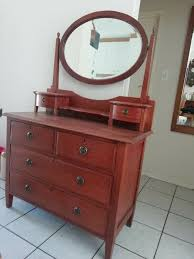 antique teak oval mirror dressing table
