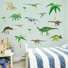 Dinosaurs Kids Room Children Vinyl Dino Wall Stickers Baby Boy Nursery Wall Decals Wall Stickers Aliexpress