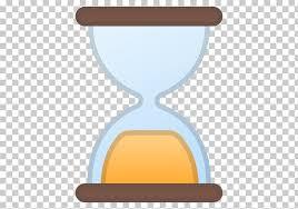 hourglass emojipedia clock time reloj
