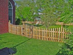 Wood Picket Fence French Gothic Scalloped Franklin Fence Deck