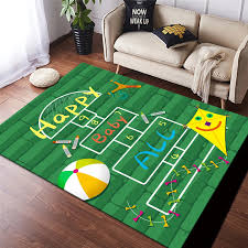 Cartoon Child Game Carpet Kids Room Play Area Rugs Girls Bedroom Soft Rug Baby Playing Crawling Carpets For Living Room Home Mat Carpet Aliexpress