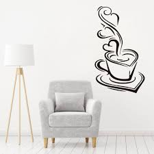 A Hot Coffee Cup Silhouette Quote Wall Decal Vinyl Sticker Krafmatics