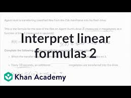 interpreting linear formulas example 2