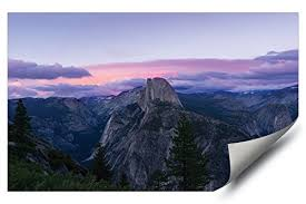 Yosemite Valley Pink Sunset California Landscape Hd Vinyl Wall Art Poster Decal Sticker Wantitall