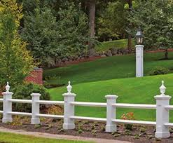 Manchester Post And Rail Fence With Finials Wood Solid Cellular Pvc Metal And Hollow Vinyl Fences From Walpole Outdoors