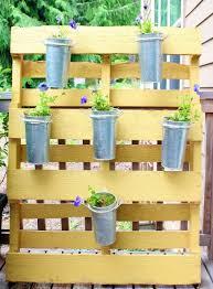diy vertical garden of a wood pallet