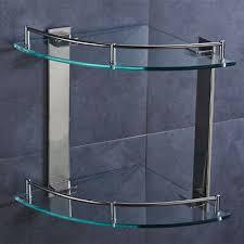 2 layer bathroom side corner shelf