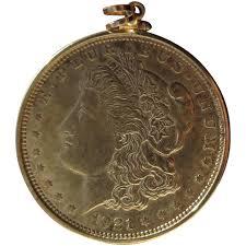 1921 morgan silver dollar pendant