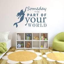 Little Mermaid Wall Decal Vinyl Decor Wall Decal Customvinyldecor Com