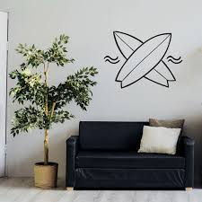 Surf Decal Surfing Wall Decal Surf Sticker Sticker For Wall Etsy