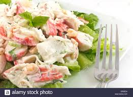 seafood salad with shrimp and crab meat ...