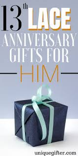 20 13th lace anniversary gifts for him