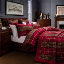 dorma lomond red duvet cover and