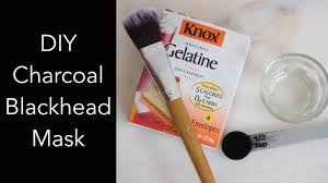 diy charcoal blackhead mask l off