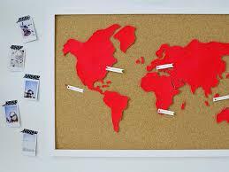 Diy Wall Art Make A Custom Corkboard World Map Hgtv
